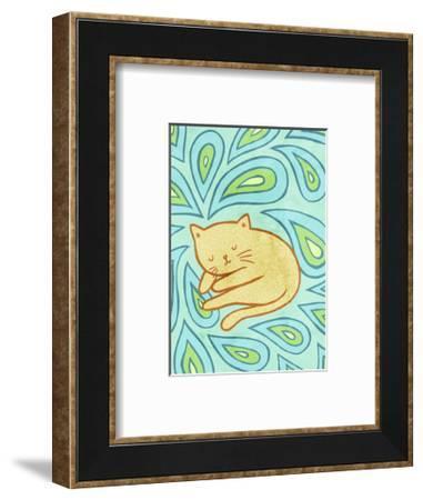 Paisley Cat-My Zoetrope-Framed Art Print
