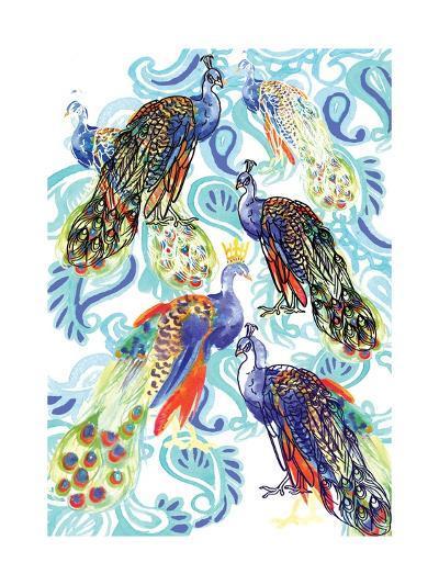 Paisley Peacock, 2013-Anna Platts-Giclee Print