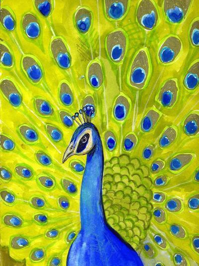 Paisley Peacock-Blenda Tyvoll-Giclee Print