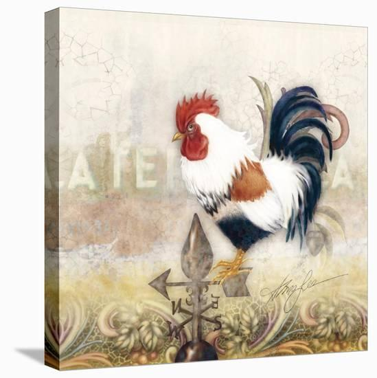 Paisley Rooster-Alma Lee-Stretched Canvas Print