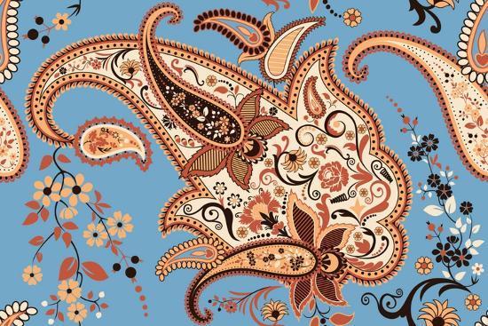 Paisley Seamless Pattern-Milovelen-Art Print