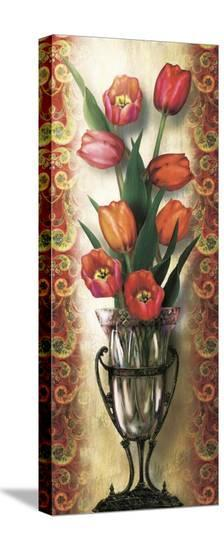 Paisley Tulip-Alma Lee-Stretched Canvas Print