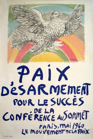 Paix Disarmement-Peace-Pablo Picasso-Serigraph