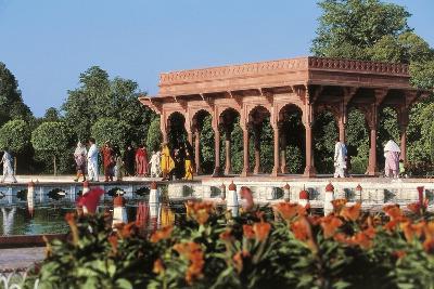 Pakistan, Punjab, Lahore, Shalimar Gardens, Built by Mughal Emperor Shah Jahan--Giclee Print