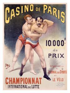 Casino de Paris Championnat de Lutte by PAL (Jean de Paleologue)