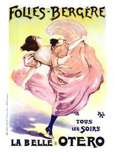 Folies Bergere, Belle Otero by PAL (Jean de Paleologue)