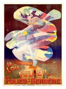 La Loie Fuller, Folies-Bergere by PAL (Jean de Paleologue)