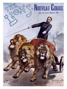 The Lions Nouveau Cirque by PAL (Jean de Paleologue)