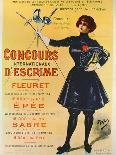 Vintage French Poster of a Goddess with a Bicycle, C.1898-Pal-Giclee Print