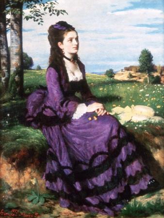 Lady in Violet, 1874