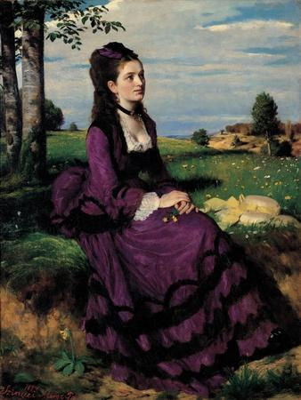 Portrait of a Woman in Lilac