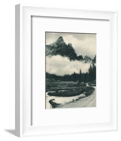Pala Group in clouds, San Martino di Castrozza, Dolomites, Italy, 1927-Eugen Poppel-Framed Photographic Print