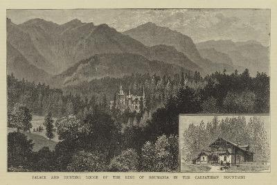 Palace and Hunting Lodge of the King of Roumania in the Carpathian Mountains-William Henry James Boot-Giclee Print