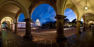 Palace at Dusk, Palacio De Los Capitanes Generale, Antigua Guatemala, Guatemala