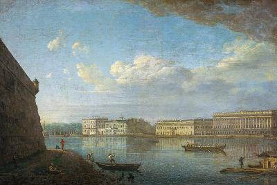 Palace Embankment as Seen from the Peter and Paul Fortress, 1794-Fyodor Yakovlevich Alexeyev-Giclee Print
