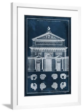 Palace Facade Blueprint I-Vision Studio-Framed Art Print