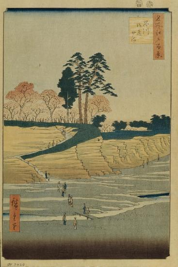 Palace Hill in Shinagawa (One Hundred Famous Views of Ed), 1856-1858-Utagawa Hiroshige-Giclee Print