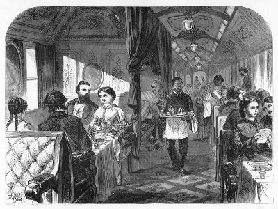 Palace Hotel Car, Union Pacific Railroad, C1870-AR Ward-Giclee Print