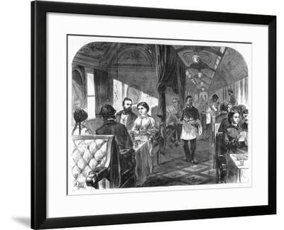 Palace Hotel Car, Union Pacific Railroad, C1870-AR Ward-Framed Giclee Print