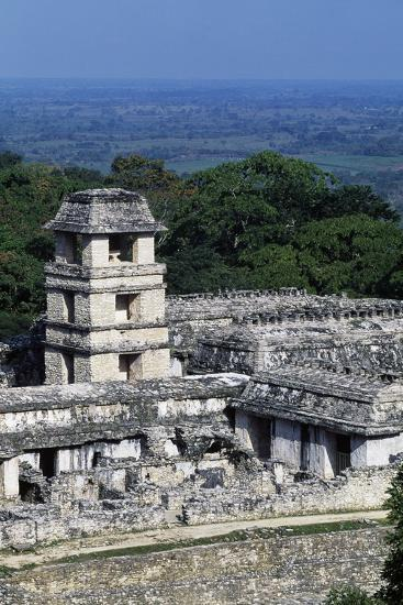 Palace Observation Tower in the Palace Complex, Archaeological Site of Palenque--Photographic Print