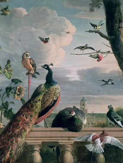 Palace of Amsterdam with Exotic Birds-Melchior de Hondecoeter-Giclee Print