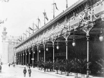 Palace of Diverse Industries, Side View, Paris Exposition, 1889--Photographic Print