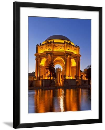 Palace of Fine Arts at Dusk in San Francisco, California, Usa-Chuck Haney-Framed Photographic Print