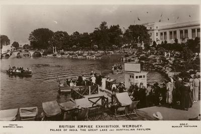 Palace of India, the Great Lake and Australian Pavilion, British Empire Exhibition, Wembley, 1924--Photographic Print