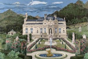 Palace of Linderhof, Property of Ludwig II of Bavaria (1845-1886). Coloured