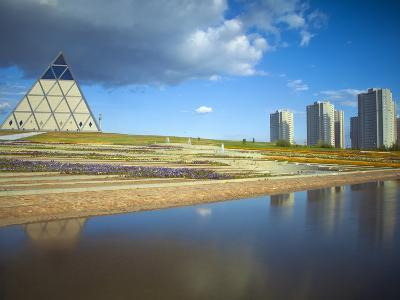 Palace of Peace and Reconciliation Pyramid Designed by Sir Norman Foster, Astana, Kazakhstan-Jane Sweeney-Photographic Print