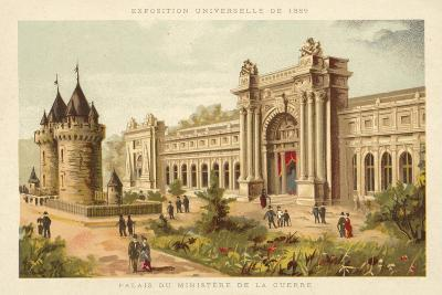 Palace of the Ministry of War, Exposition Universelle 1889, Paris--Giclee Print