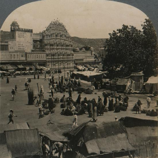 'Palace of the Winds from Shiva Temple, Jeypore, India', 1902-Unknown-Photographic Print