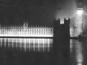 Palace of Westminster London, V Day Celebrations, End of WW2 in Europe, May 1945