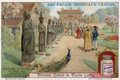 Palace Officials Visiting the Statues of Old Emperors, China--Giclee Print