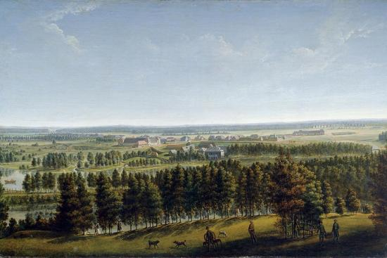 Palace Park as Seen from the Gatchina Palace, 1790S-Johann Jakob Mettenleiter-Giclee Print
