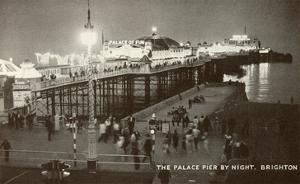Palace Pier by Night, Brighton, England