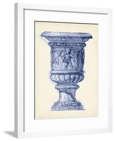 Palace Urns in Indigo III-Vision Studio-Framed Art Print