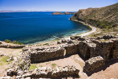 Palacio Del Inca at Chincana Ruins, Lake Titicaca, Bolivia-Matthew Williams-Ellis-Photographic Print