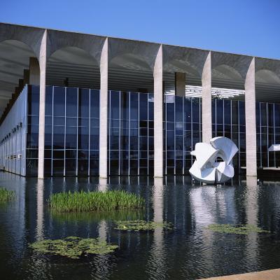 Palacio Do Itamaraty, Brasilia, UNESCO World Heritage Site, Brazil, South America-Geoff Renner-Photographic Print