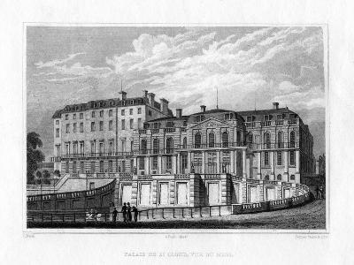 Palais De St Cloud, Paris, C1830-J Nash-Giclee Print