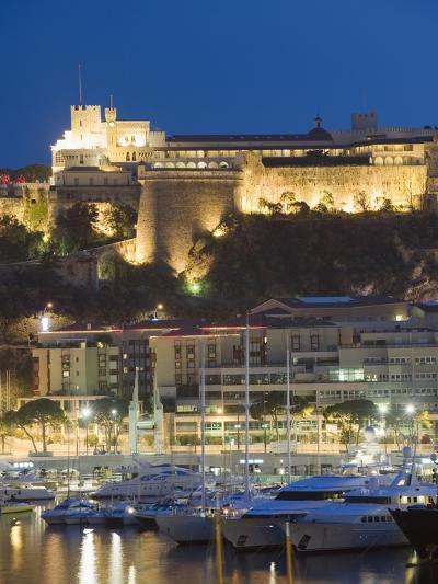 Palais Du Prince and Harbour in the Port of Monaco, Principality of Monaco, Cote D'Azur-Christian Kober-Photographic Print