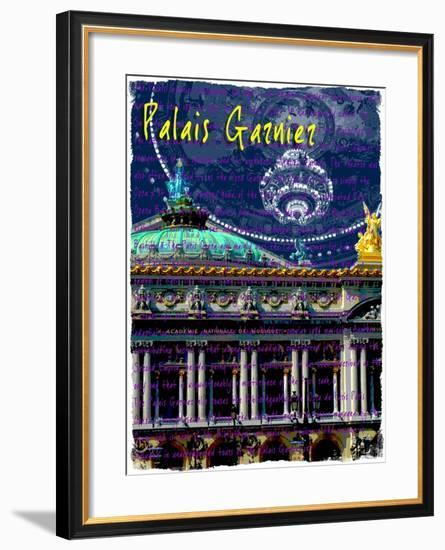 Palais Garnier Paris, Opera House 4-Victoria Hues-Framed Giclee Print