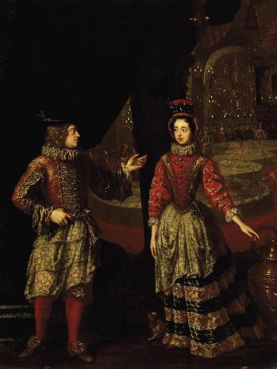 Palatine Voters Wearing Masks, Anna Maria Luisa De'Medici--Giclee Print