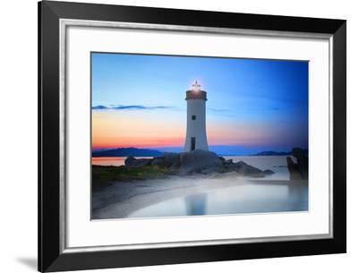 Palau Lighthouse-Marco Carmassi-Framed Photographic Print