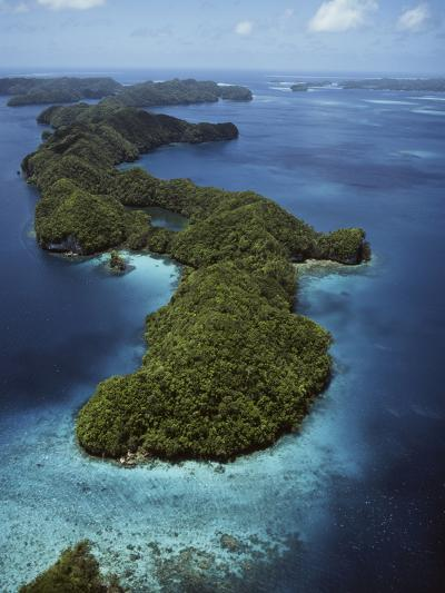 Palau, Micronesia, Aerial View of Rock Island-Stuart Westmorland-Photographic Print