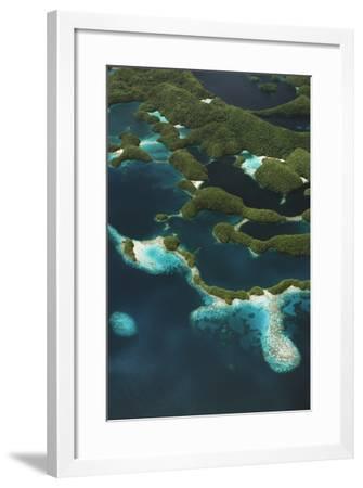 Palau, Micronesia, Rock Islands, Aerial View of Rock Islands-Stuart Westmorland-Framed Photographic Print