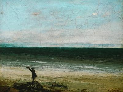 Palavas or the Artist by the Sea, 1854-Gustave Courbet-Giclee Print