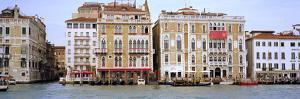 Palazzi Facades Along the Canal, Grand Canal, Venice, Veneto, Italy