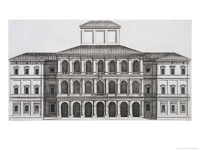 "Palazzo Barberini on the Quirinale, Finished 1630, from ""Palazzi Di Roma,"" Part I, Published 1655-Pietro Or Falda Ferrerio-Giclee Print"