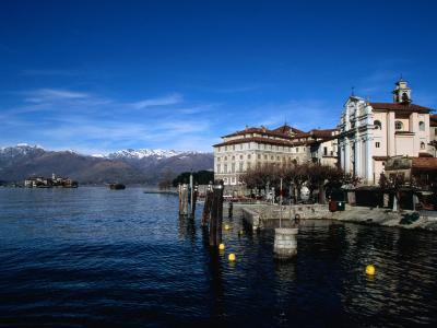 Palazzo Borromeo and Isola Di Pescatori in Background, Lago Maggiore, Italy-Martin Moos-Photographic Print